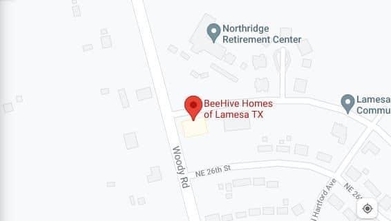 Map of BeeHive Homes of Lamesa, TX