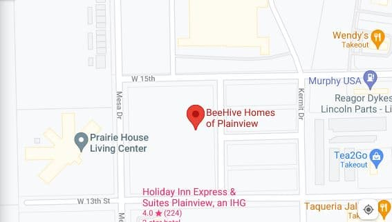 Map of BeeHive Homes of Plainview, TX