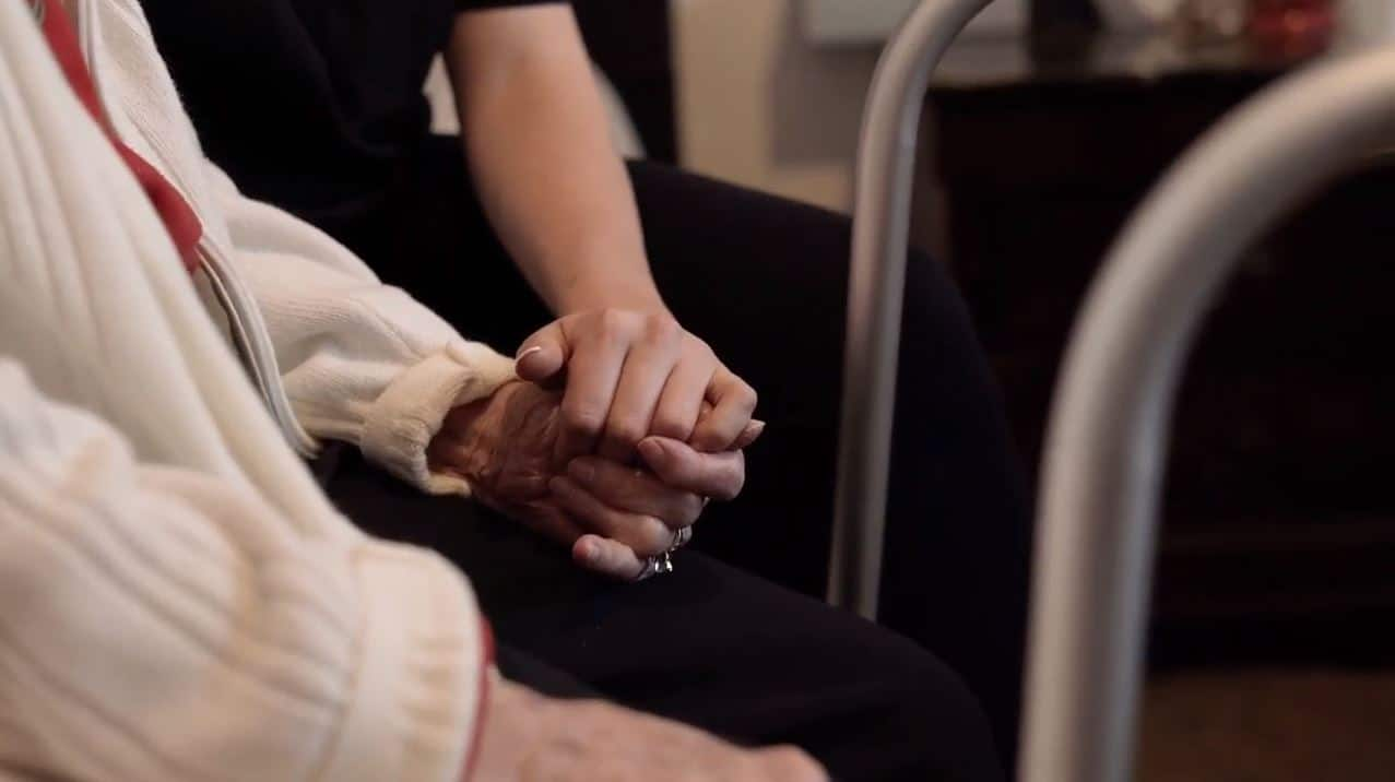 Hold Hands - Vision Loss